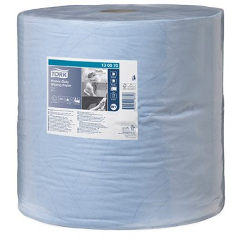 TORK Putztuch, Maxirolle 2-lagig; 37,0 x 34,0 cm (B x L); 2-lagig; blau; 340 m = 1000 Tücher; Tissue+; extrastarkes Mehrzweckwischtuch