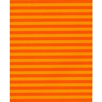 Geschenkpapier; 70 cm x 50 m; Blockstreifen; orange; 2039-31; Offset weiß, glatt; 50m-Midirolle; Rückseite unbedruckt weiß