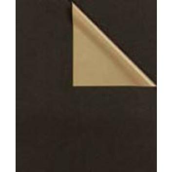 Geschenkpapier; 50 cm x 100 m; bicolor, zweiseitig farbig; schwarz-gold; 31671; Kraftpapier, weiß enggerippt; 100m-Maxirolle; ca. 60 g/qm