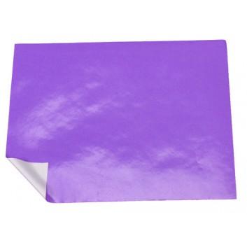 Geschenkpapier - Lackpapier; 70 cm x 20 m; uni, einseitig farbig; viola-glänzend, Rückseite: weiß-matt; 08-Lilla; Offset weiß, glatt; 20m-Minirolle
