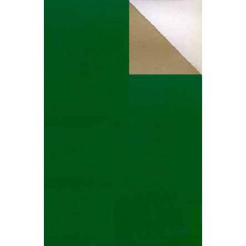 Geschenkpapier; 70 cm x 50 m; bicolor, zweiseitig farbig; grün-gold; 2003-59; Offset, glatt; 50m-Midirolle
