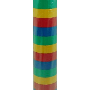 Geschenkpapier; 70 cm x 100 m; Streifen; bunt; 23; Offset weiß, glatt; 100m-Maxirolle