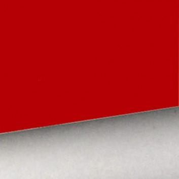 Geschenkpapier; 50 cm x 250 m; bicolor, zweiseitig farbig; rot-glänzend - silber-metallic; 11127; Offset weiß, glatt; Secare-Rolle