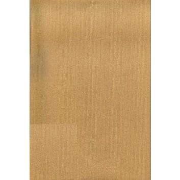 Geschenkpapier; 50 cm x ca. 250 m; uni, einseitig farbig; gold, Rückseite: naturbraun; 40360; Kraftpapier braun, enggerippt; Secare-Rolle