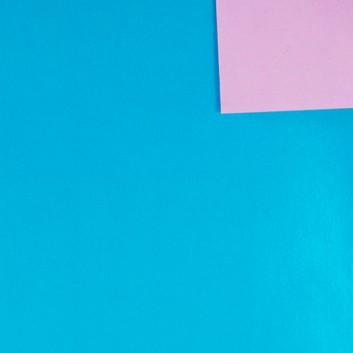 Geschenkpapier; 50 cm x 250 m; bicolor, zweiseitig farbig; wasserblau-metallic - rosa-matt; 11146; Offset weiß, glatt; Secare-Rolle