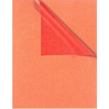 Geschenkpapier; 50 cm / 70 cm x ca. 250 m; bicolor, zweiseitig farbig; kupfer-rot; 931660; Kraftpapier, weiß enggerippt; Secare-Rolle; ca. 60 g/qm