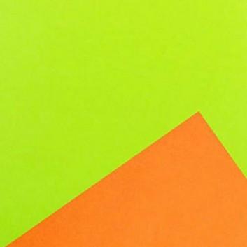Geschenkpapier; 50 cm x 250 m / 70 cm x 250 m; bicolor, zweiseitig farbig; kiwi-orange; 80111; Geschenkpapier, glatt; Secare-Rolle