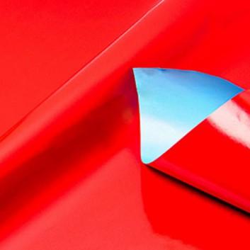 Geschenkpapier; 50 cm x 250 m / 70 cm x 250 m; bicolor, zweiseitig farbig; rot-hellblau; 80152; Geschenkpapier, glatt; Secare-Rolle