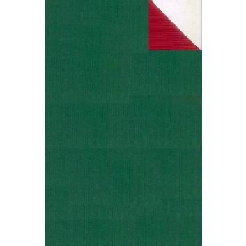 Geschenkpapier; 50 cm x 250 m; bicolor, zweiseitig farbig; grün-rot; 60019; Kraftpapier, braun-enggerippt; Secare-Rolle
