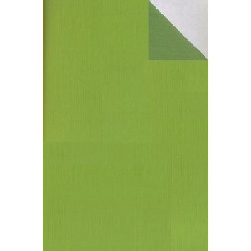 Geschenkpapier; 50 cm x 250 m; bicolor, zweiseitig farbig; kiwigrün-moosgrün; 60040; Kraftpapier, braun-enggerippt; Secare-Rolle