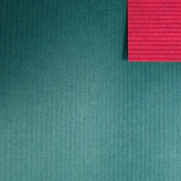 Geschenkpapier; 70 cm x 250 m; bicolor, zweiseitig farbig; dunkelgrün-kupfer; 60139; Kraftpapier braun enggerippt; Secare-Rolle