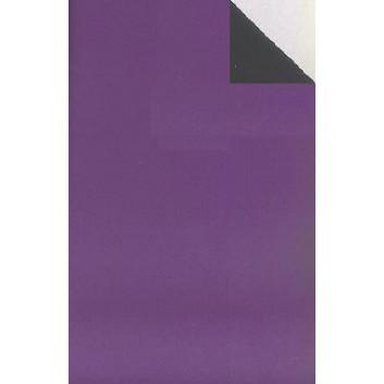 Geschenkpapier; 50 cm x 250 m / 70 cm x 250 m; bicolor, zweiseitig farbig; perl-violett - schwarz; 70131; Geschenkpapier, glatt; Secare-Rolle