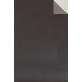 Geschenkpapier; 70 cm x ca. 250 m; bicolor, zweiseitig farbig; braun-graubraun; 70209; Geschenkpapier, glatt; Secare-Rolle