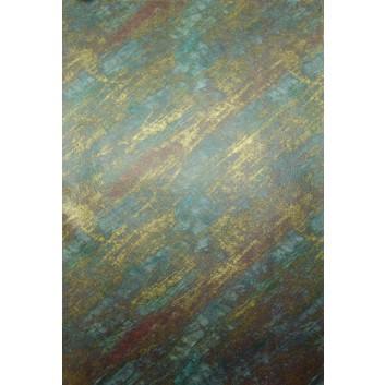 Geschenkseide; 50 x 75 cm; Streifen; gold-bordeaux-blau; Seide, geprägt; Bogen, einmal gelegt