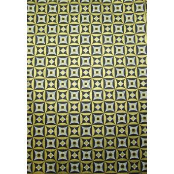 Geschenkseide; 50 x 75 cm; Grafikmotiv; gold-schwarz-weiß; Seide, geprägt; Bogen, einmal gelegt