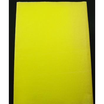Geschenkseide; 50 x 75 cm; uni; gelb  (teilweise verblichen); Seide, geprägt; Bogen, einmal gelegt; ca. 25 g/qm