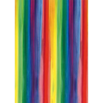 Geschenkseide; 50 x 75 cm; Regenbogenstreifen; bunt; 2621177; Seide, geprägt; Bogen, einmal gelegt; ca. 25 g/qm