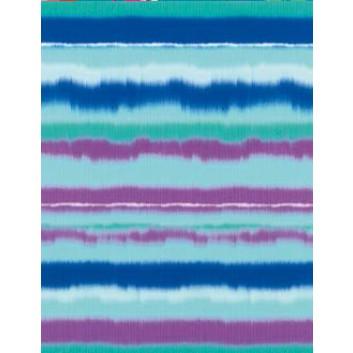Geschenkseide; 50 x 75 cm; Grafikmotiv: Streifen, aquarell; wasserblau-blau-lila; 562513; Seide, geprägt; Bogen, einmal gelegt; ca. 25 g/qm