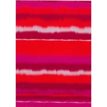 Geschenkseide; 50 x 70 cm; Streifen-Farbverlauf; Rottöne; 562530; Seide, geprägt; Bogen, einmal gelegt; ca. 25 g/qm