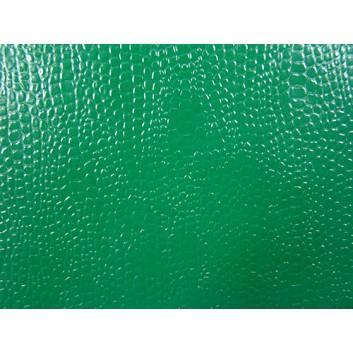 Lackpapier - Kroko; 50 x 70 cm (gefaltet auf 35x50cm ); uni, einseitig farbig; grün; Krokoprägung; Bogen