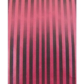 Lackpapier; 50 x 70 cm; Streifen, einseitig farbig; rot-schwarz; glatt; Einzelbogen