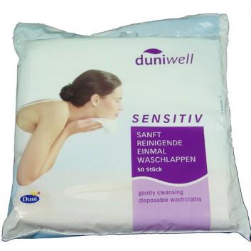Duni Waschlappen,Einweg sensitiv; Sanft; 20 x 20 cm