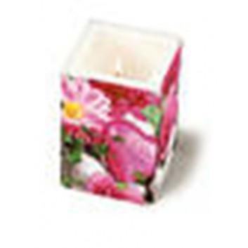 Paper + Design Dekor-Kerze / Windlicht; For a special day; bunt; 8 x 8 cm, Höhe 10 cm; in Folie verpackt