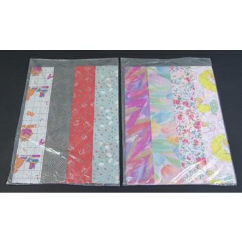 Geschenkseide; 50 x 70 cm; sortiert; verschiedene; Seidenpapier; Bogen