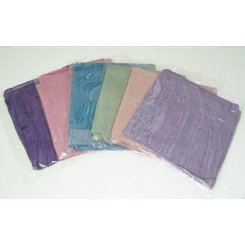 Geschenk-Schal, farbig; uni; rosa, hellblau, hellgrün; Baumwolle; einzel verpackt