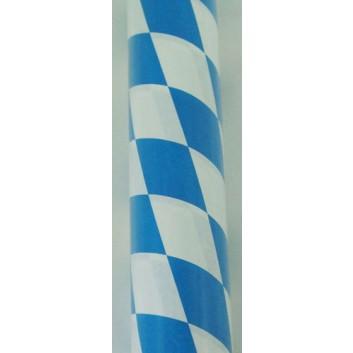 Werola Tischtuch-Rolle, Papier; 100 cm x 10 m; Bayerische Raute; weiß-blau; 2025; Papier, geprägt; Breite x Länge
