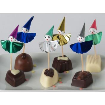 Kögler Partypicker, Holz; Clown; bunt; 75 mm; Holz; in Klarsichtbox