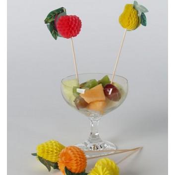 Kögler Partypicker, Holz; Früchte; bunt; 175 mm; Holz; in Klarsichtbox