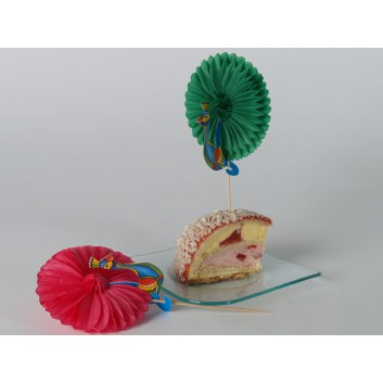 Kögler Dessertfächer, Holz; Pfau; bunt; 115 mm; Holz; in Klarsichtbox