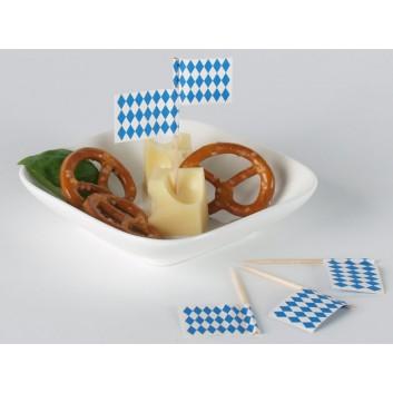 Kögler Partypicker, Holz; Bayern; weiß-blau: Raute; 70 mm; Holz; in Klarsichtbox