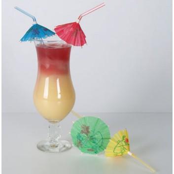 Kögler Trinkhalme -Eisschirmchen-; Eisschirmchen; bunt; 240 mm; 5 mm; Flexhalme; lose; in Klarsichtbox