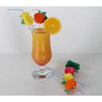 Kögler Trinkhalme -Wabenfrüchte-; Wabenfrüchte; bunt; 240 mm; 5 mm; Flexhalme; lose; in Klarsichtbox
