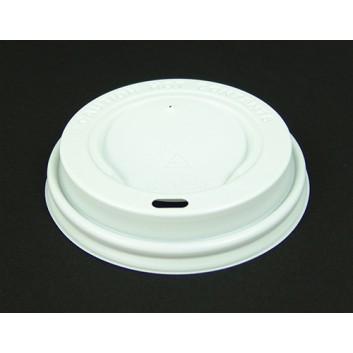Deckel für  CTG = Coffee-to-go  Becher; für CTG-Becher #270004/083/084/133/293N; weiß; rund, mit Trinköffnung; PS = Polystyrol; 89,5 mm