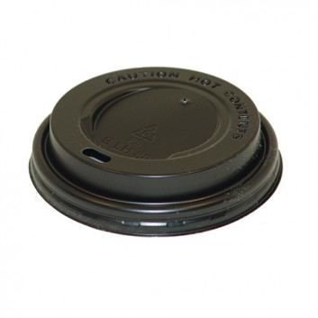 Deckel für  CTG = Coffee-to-go  Becher; für CTG-Becher #270002/082/132; schwarz; rund, mit Trinköffnung; PS = Polystyrol; ca. 80 mm; Rand genoppt