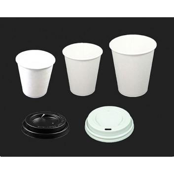 Becher CTG = Coffee-to-go weiß; 100 ml / 200 ml / 300 ml; weiß, unbedruckt; Hartpapier, innen PE-beschichtet; Neue Version: ohne Eichstrich