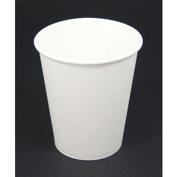 Becher CTG = Coffee-to-go; 200 ml / 8 oz; weiß, unbedruckt; Hartpapier, innen PE-beschichtet; Neue Version: ohne Eichstrich