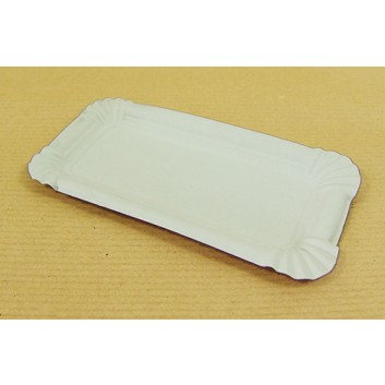 Hosti-Pfiffkuss Pappteller; 7 x 14 cm; weiß; Hartpapier; Rechteckig