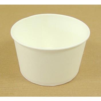 Eisbecher; 260 ml; weiß-matt, unbedruckt; Hartpappe, PE-beschichtet; Rundbecher; DU: 92 mm / Höhe: 55 mm
