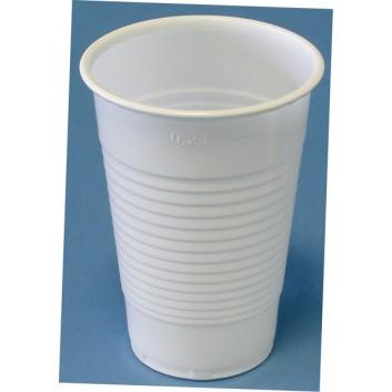 Plastikbecher; verschiedene Größen; weiß  / klar; PP = Polypropylen, recycelbar