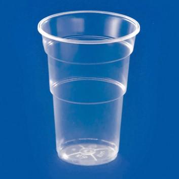 Plastikbecher; 500 ml; klar; PP = Polypropylen, recycelbar