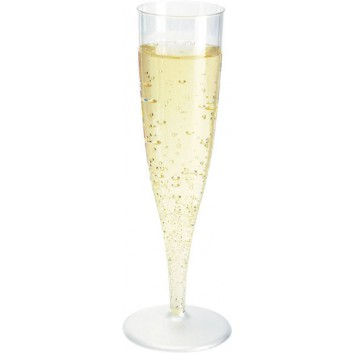 Duni Champagnerglas Spritzguß 10-Pack; 135 ml; transparent; PS = Polystyrol max. +100°C; bei 100 ml