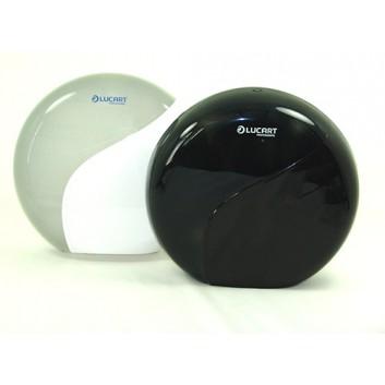 Spender für Toilettenpapier-Großrolle; 35 x 12,66 x 32,75 cm (BxTxH); weiß / schwarz; für Großrollen -ca. 30cm; Identity; Eigengewicht: 903 g