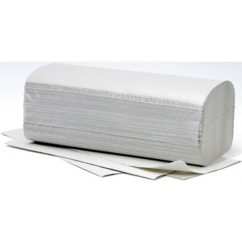 fripa Papierhandtuch 1-lagig grau; 1-lagig; V-Falz / Typ H3; 25 x 23 cm (B x L); Standard, Krepp; grau; 20 x 250 Tücher im Umkarton; für Spender H3