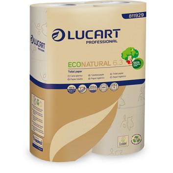 Toilettenpapier, Econatural; 3-lagig; naturbeige; 250 Blatt; 100 % Recycling aus Getränkekarton; Ecolabel;FSC; 9,6 x 11 cm; Blumenprägung