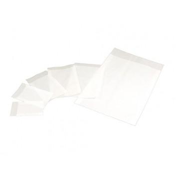 Pergamin-Flachbeutel - durchscheinend; diverse Formate; milchig, durchscheinend; Klappe ca. 15 mm; säurefrei; Breite x Höhe; Zweinahtflachbeutel