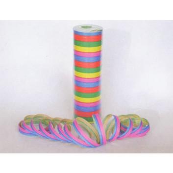 Luftschlangen, bunt; uni; bunt; Stange = 18 Segmente: ca. 7 mm x 6 m; schwer entflammbar